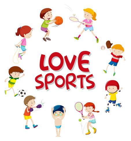 Set sport atleten karakter