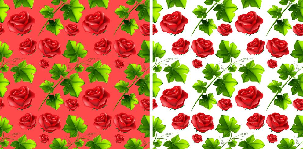 Seamless background design with red roses vector