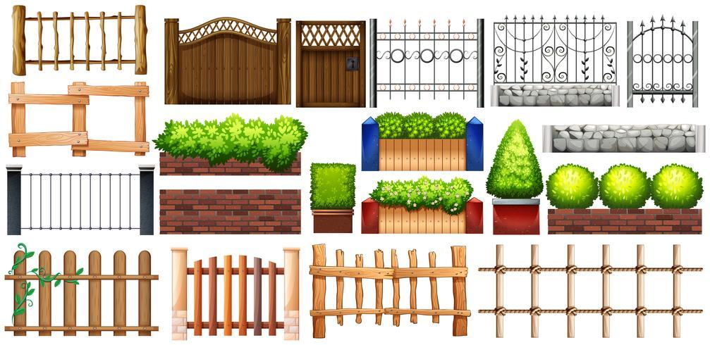 Design diferente de vedação e parede