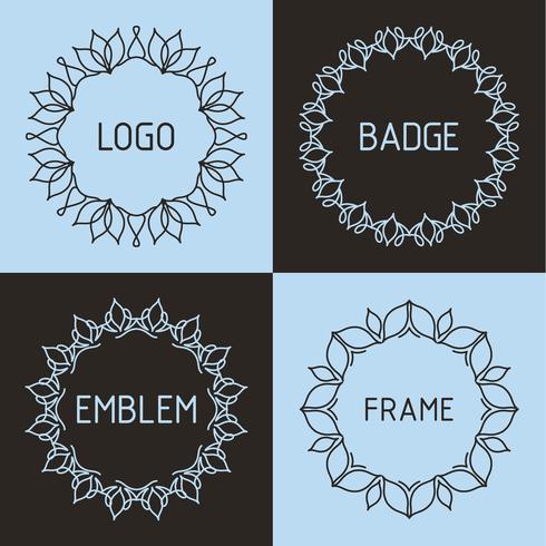 Vector outline frames and badges.