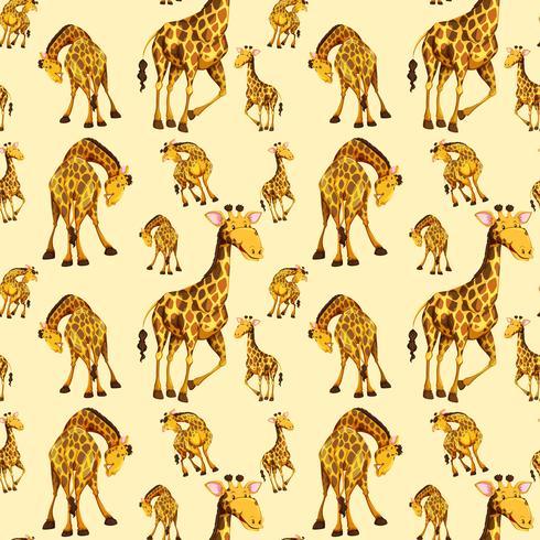 Giraffe auf nahtloses Muster