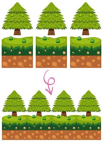 Game Element in Garden Scene