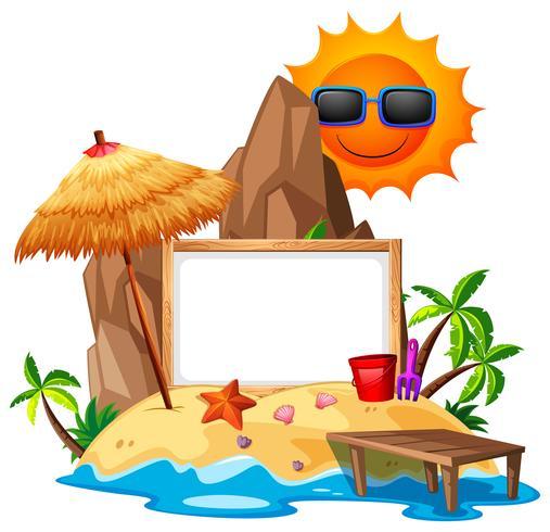 Modèle de bordure avec le thème de l'été