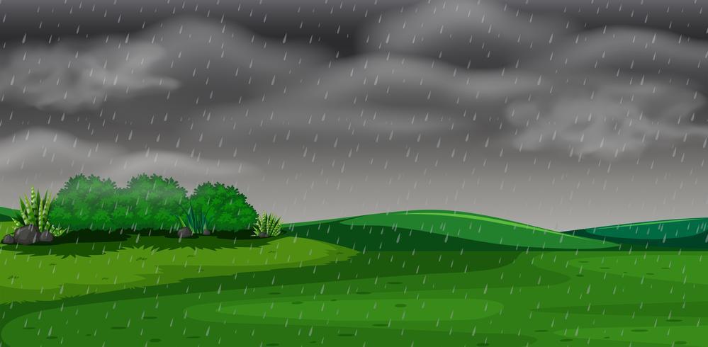 Concepto de escena de tormenta parque