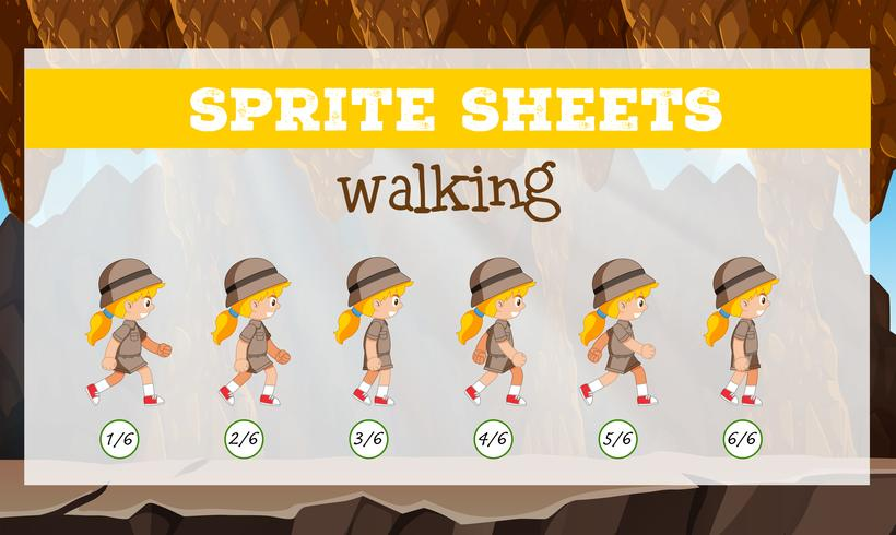 Sprite sheets walking template