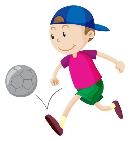 Kleiner Junge Der Fussball Spielt Download Kostenlos