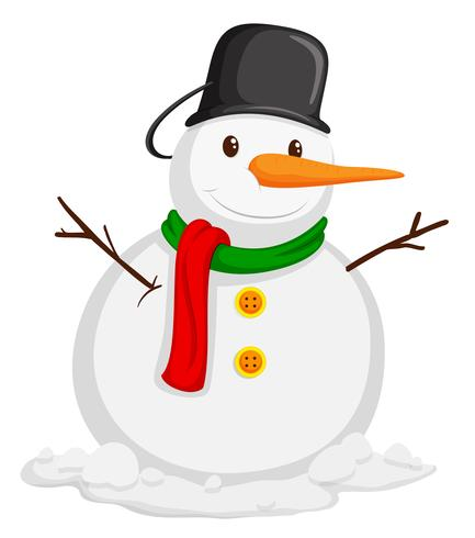 schattige sneeuwpop met sjaal