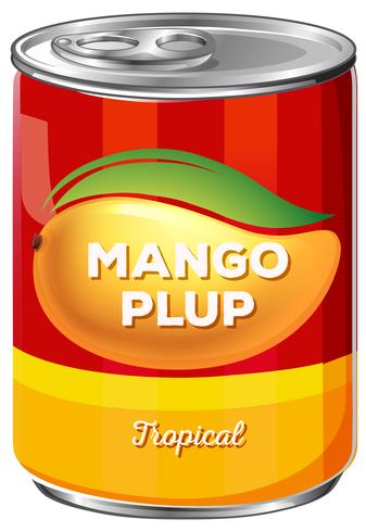 Can of tropical mango plup