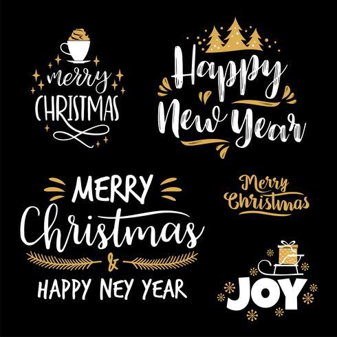 Disegni Di Natale Vettoriali.Disegni Di Lettere Di Natale E Capodanno Elementi