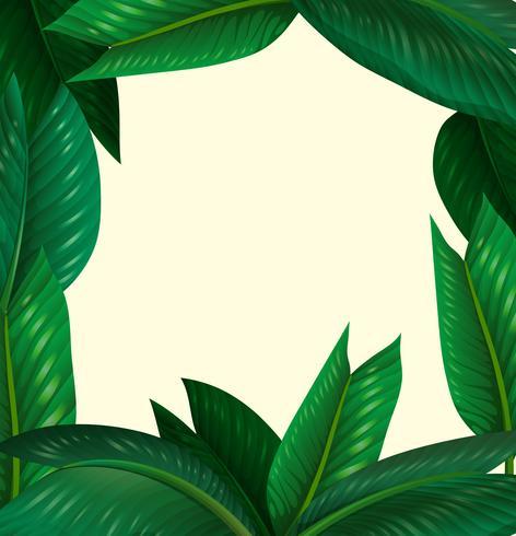 Ramdesign med gröna blad