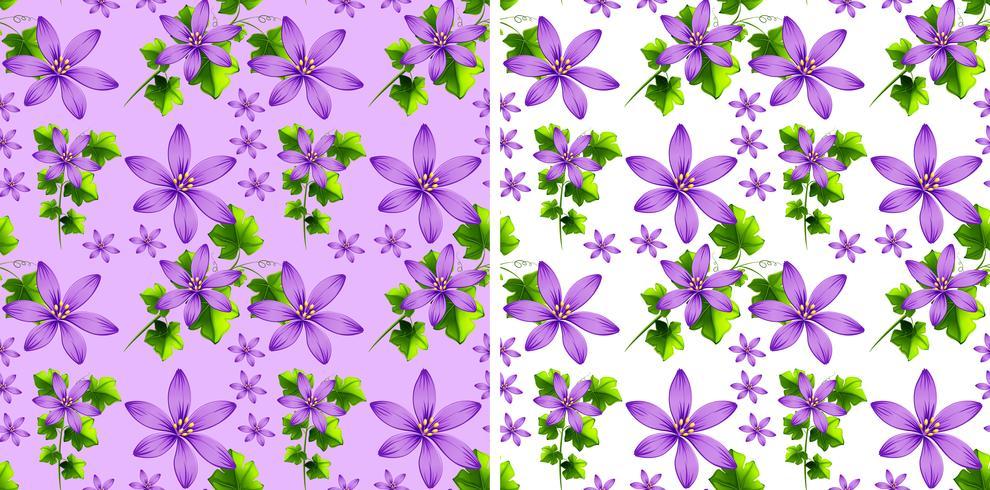 Diseño de fondo sin fisuras con flores de color púrpura
