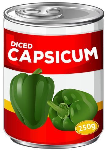 Can of diced capsicum