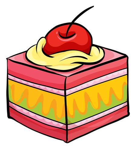 Pedaço de bolo colorido