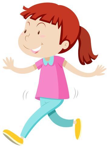 Bambina con la faccia felice