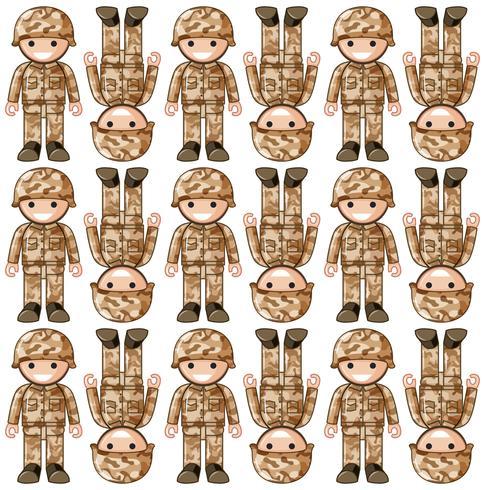Nahtloses Hintergrunddesign mit Spielzeugsoldaten