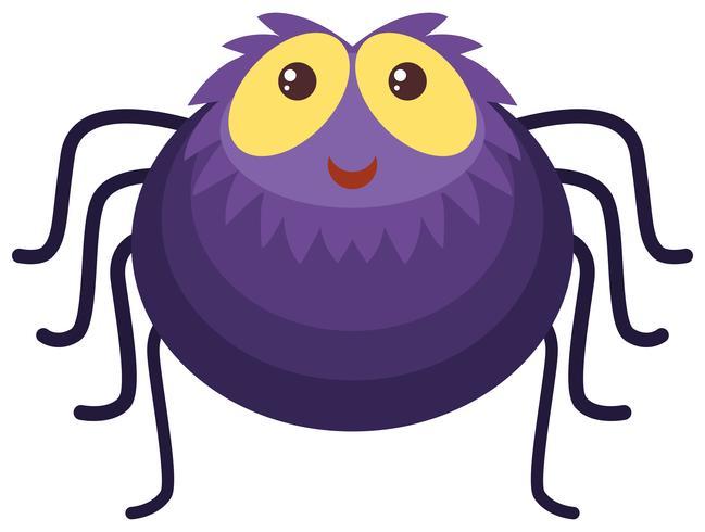 Lila spindel med gott ansikte