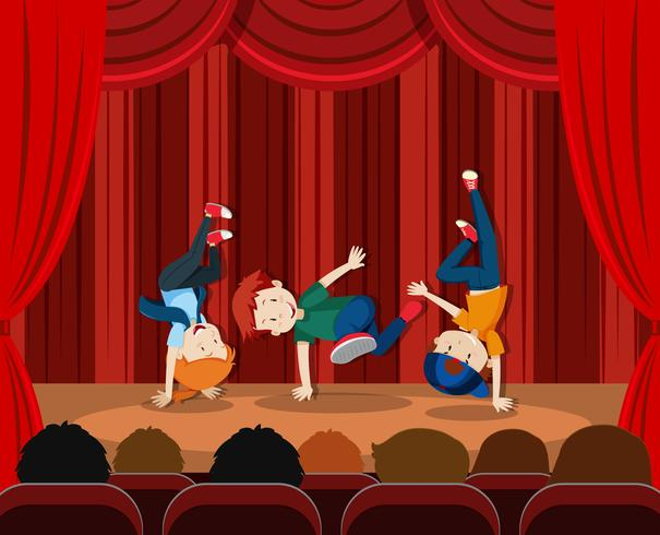 A street dance performance - Download Free Vector Art, Stock Graphics & Images