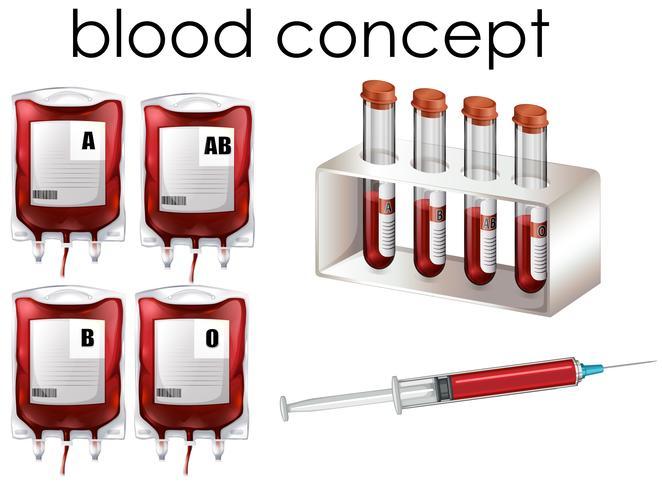 Sang Concept sur fond blanc