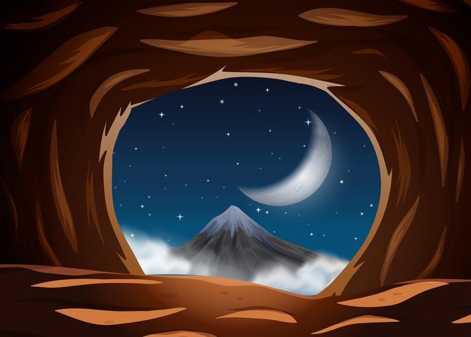 Visão noturna da caverna