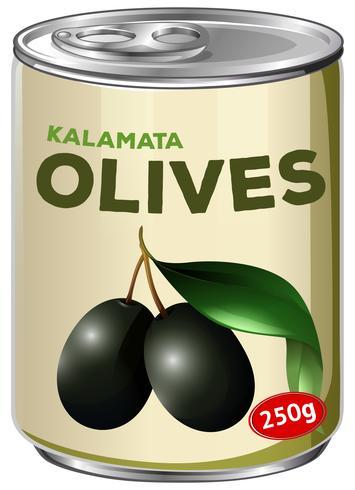 En burk av Kalamata Oliver