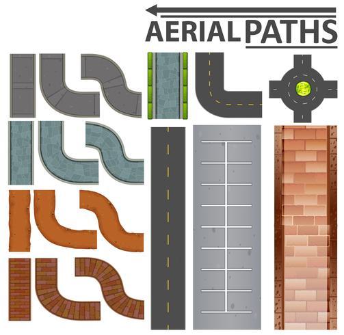 Conjunto de caminos aéreos.