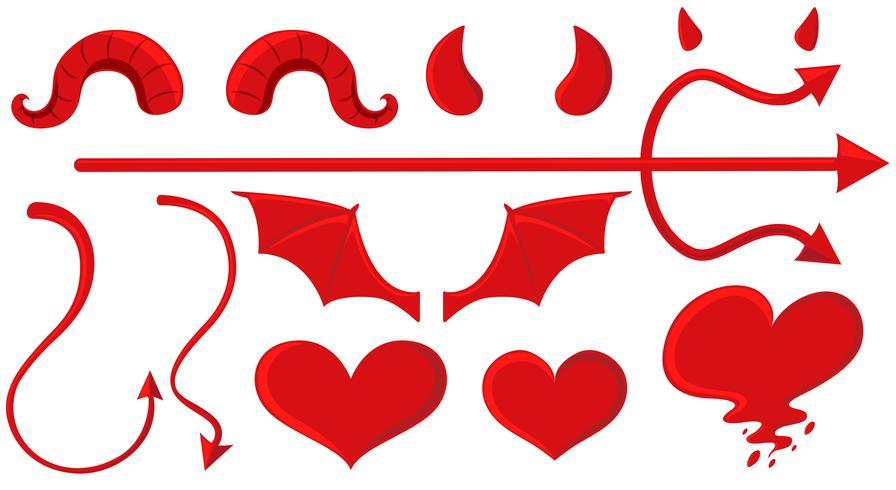 Engel und Teufel Elemente in rot vektor