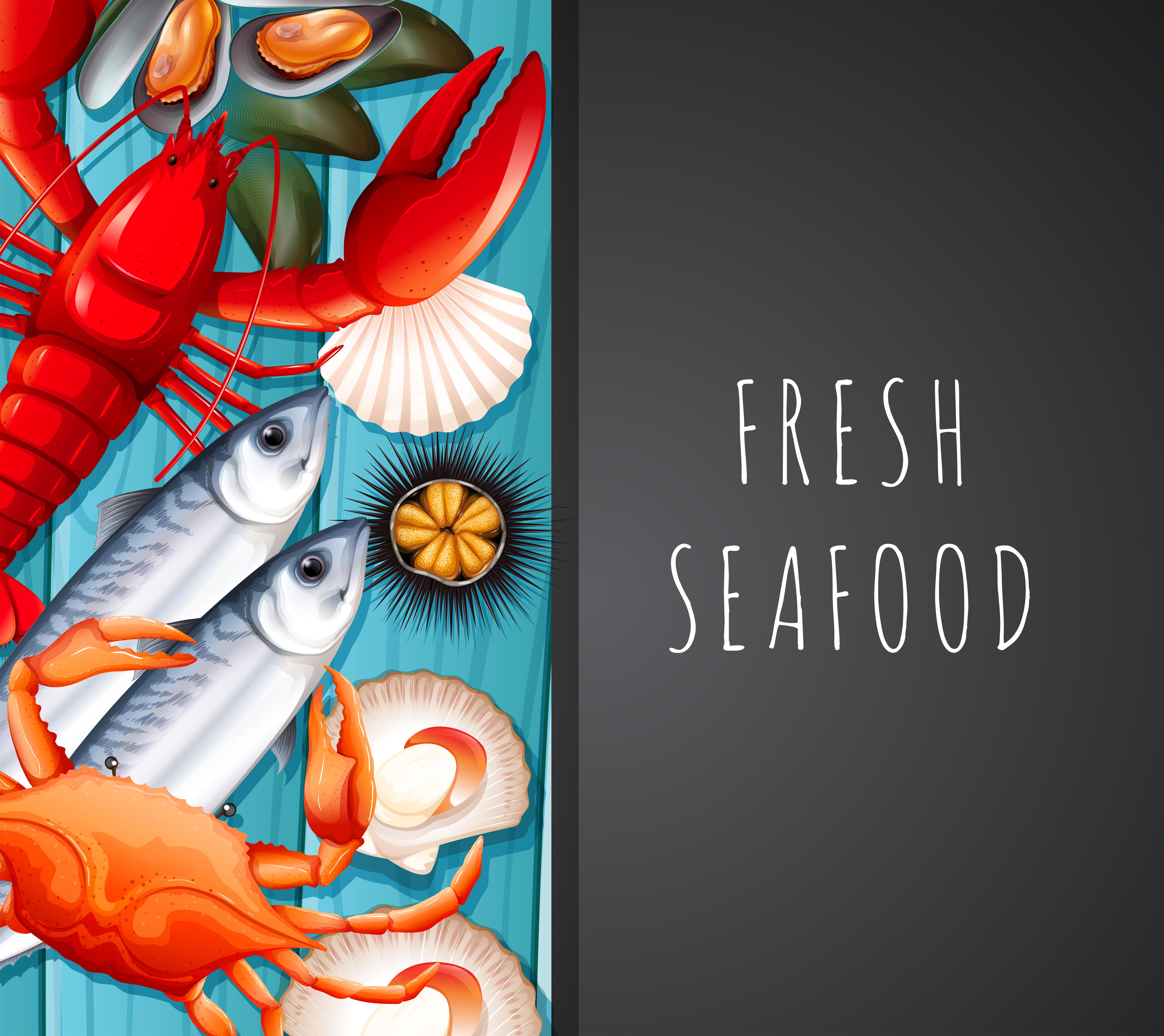 Seafood Restaurant Free Vector Art
