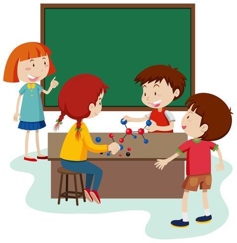 Molécula de Estudo Estudantil na Sala de Aula