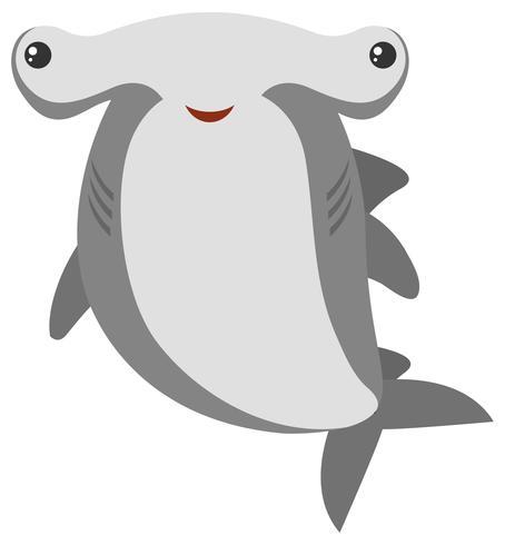 Hammerhead shark with happy face