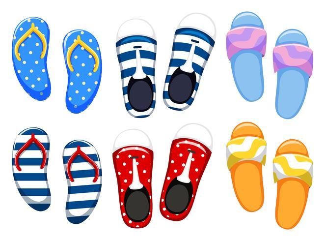 Diferentes diseños de zapatos. vector