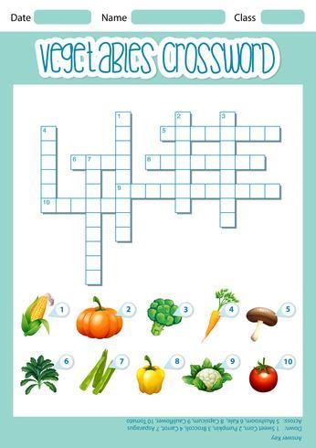 Um, vegetal, crossord, conceito