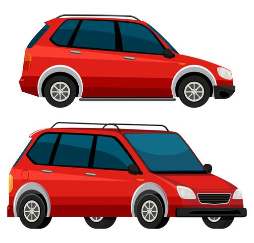 Seite des roten Autos