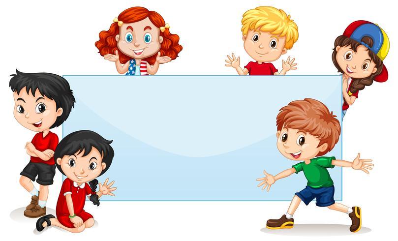 Banner en blanco para niños internacionales