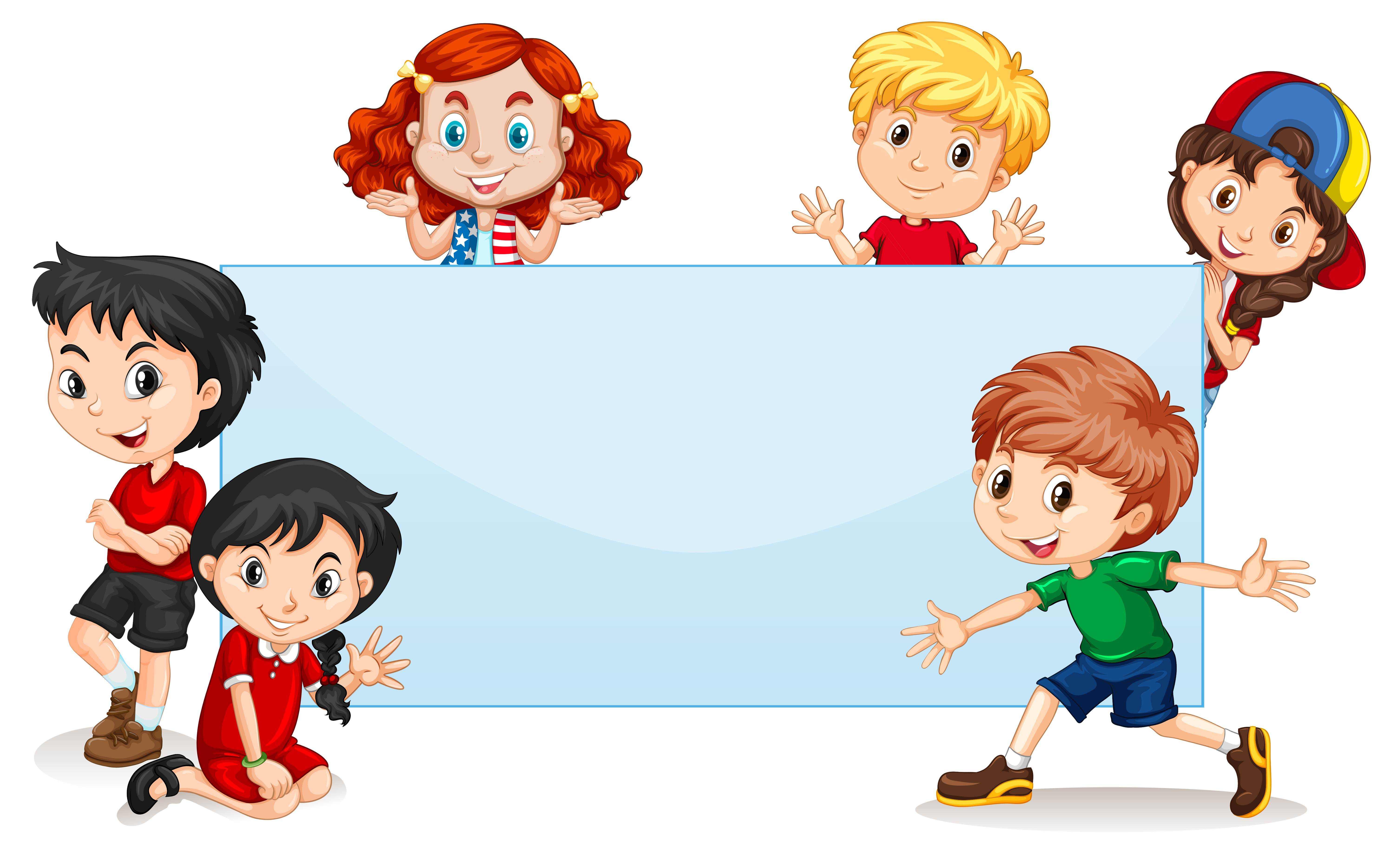 clipart banner blank vector international cartoon kid illustration character illustrations cliparts kins childrens vecteezy related vectors classroom pro