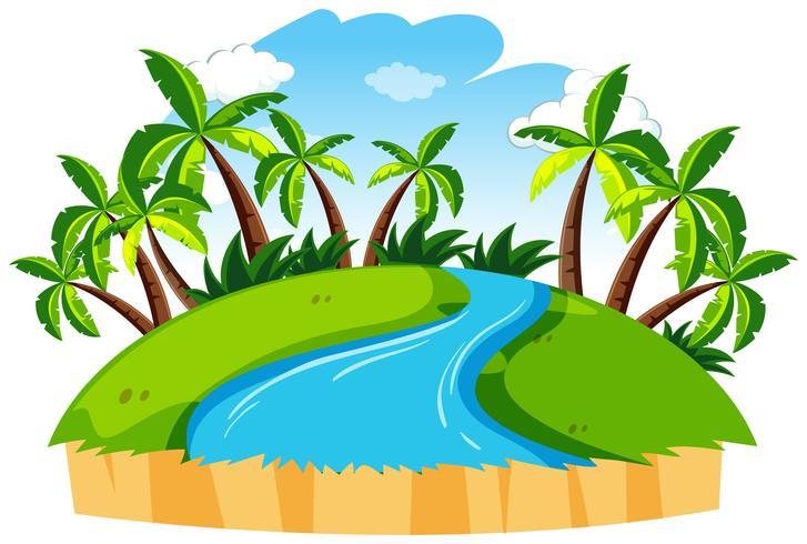 Geïsoleerde rivier natuur landschap