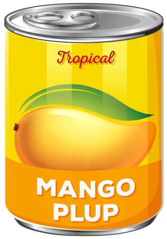 En plåt av mango plup