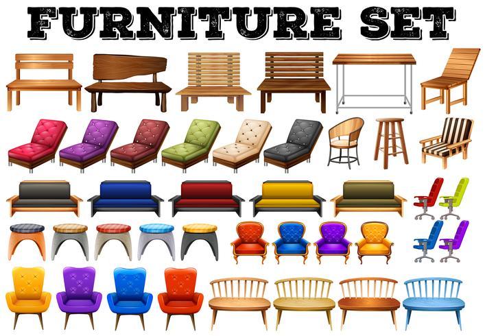 Unterschiedliches Design moderner Möbel
