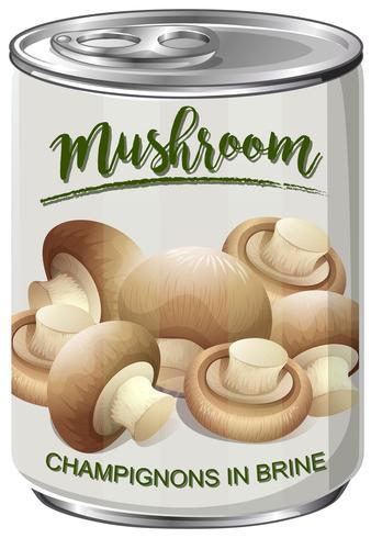 Una lattina di funghi