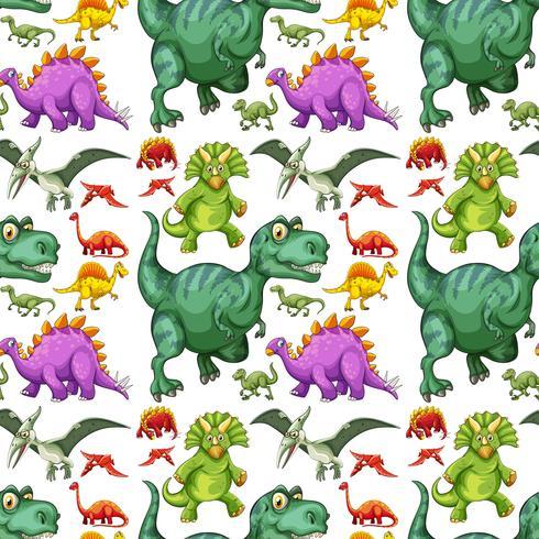 Vari tipi di modello senza cuciture di dinosauro