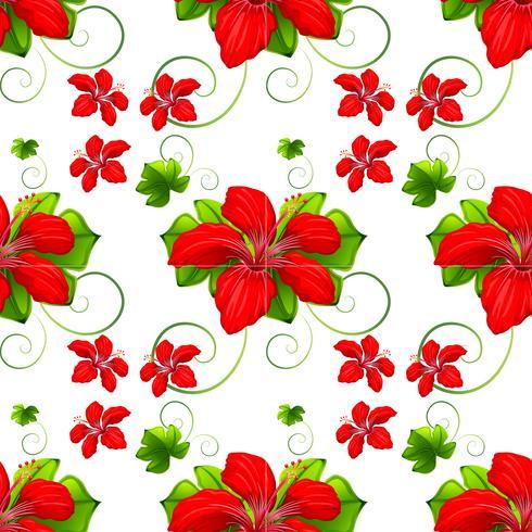 Naadloze achtergrond met rode bloemen