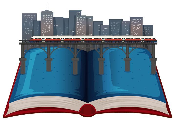 Livre ouvert de la ville moderne