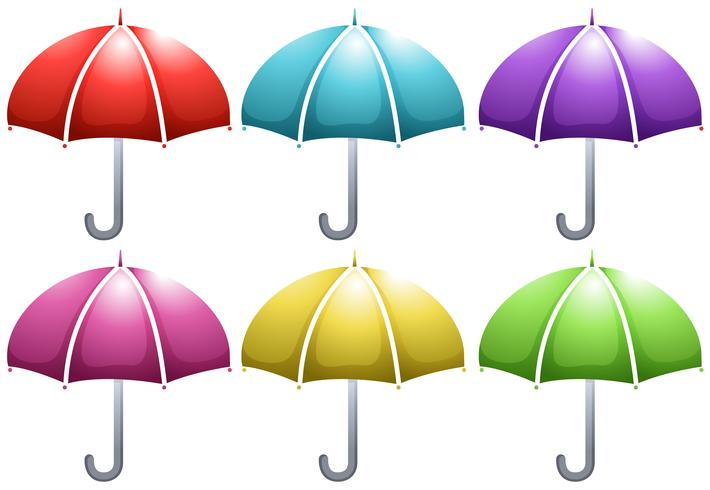 Umbrella in six colors