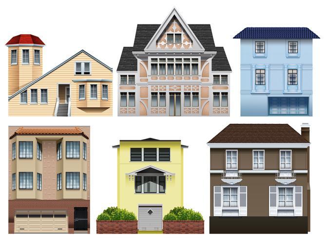 Diferentes diseños de casas.