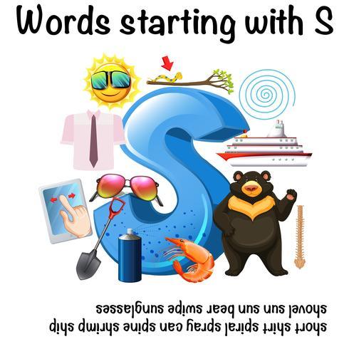 Woorden die met Letter S beginnen