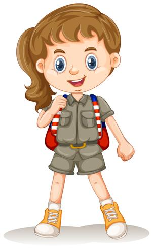 A Safari Girl on Whit Background - Download Free Vector Art, Stock Graphics & Images