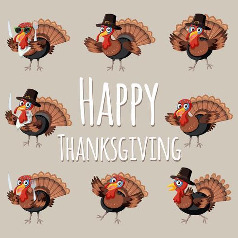 Fun Happy thanksgiving turkey