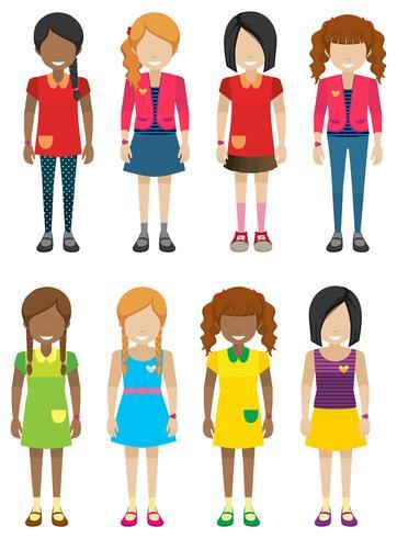 Ansiktslösa små tjejer utan ansikten