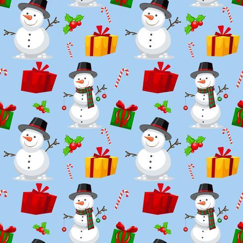 Padrão de tema de Natal sem emenda