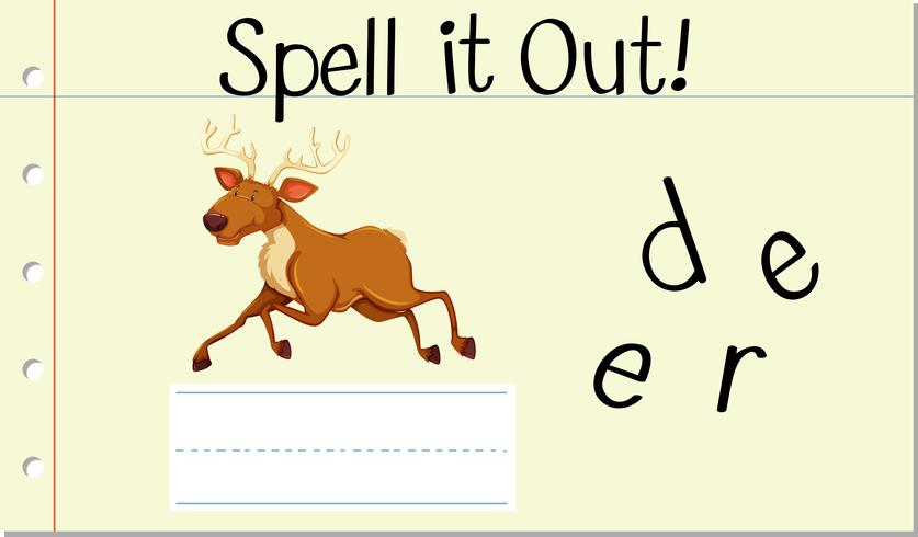 Épeler mot anglais cerf