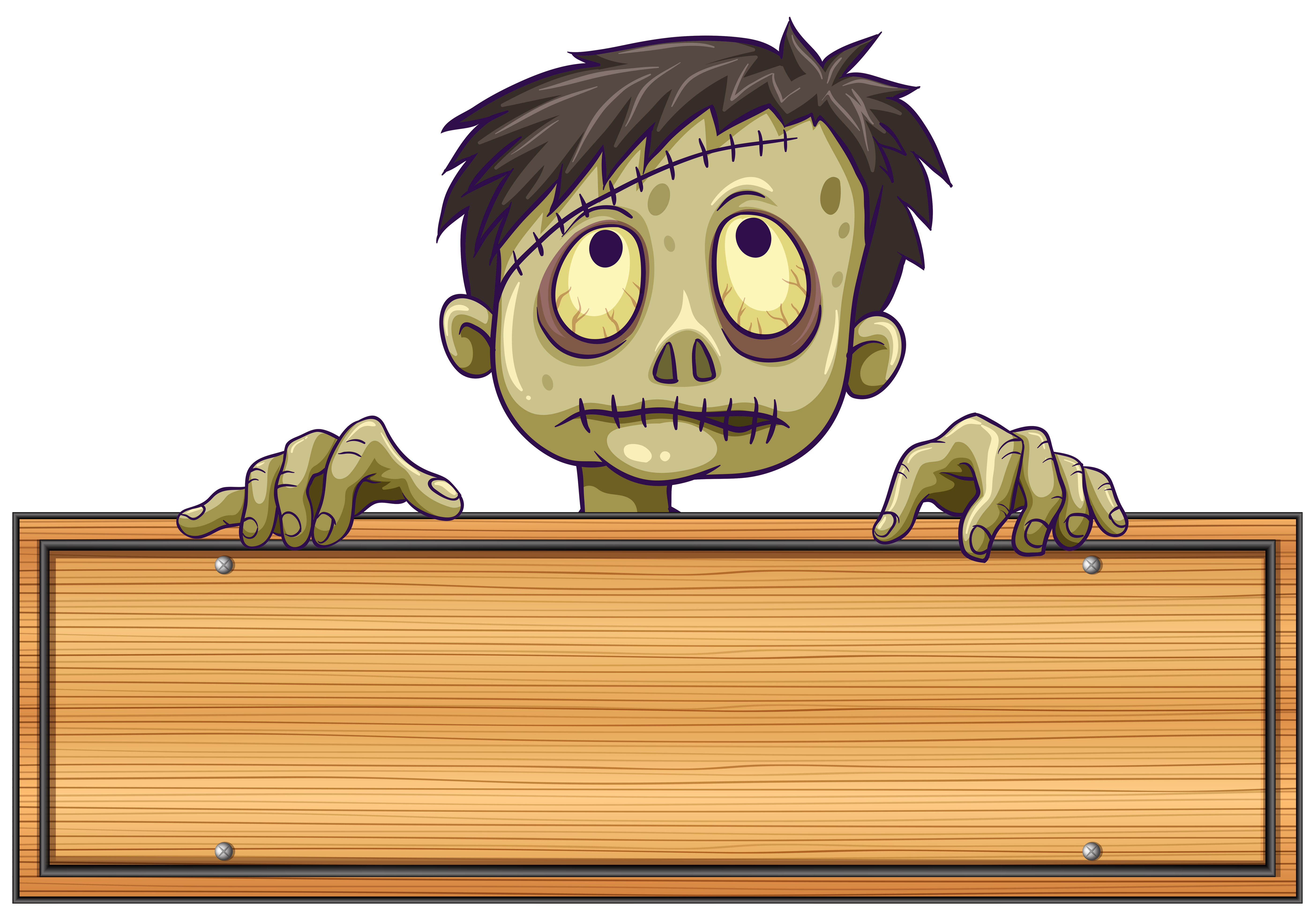 Sign template with zombie behind it - Download Free ...